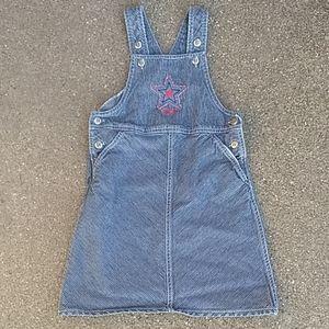 Oshkosh girls overall with skirt